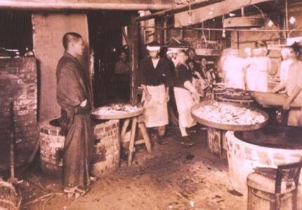 大正時代のカステラ工場